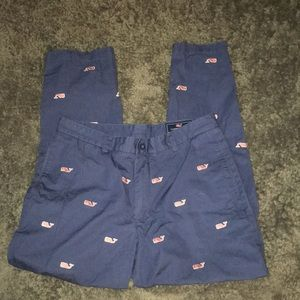 Vineyard Vines pants w/ embroidered pink whales